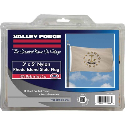 Valley Forge 3 Ft. x 5 Ft. Nylon Rhode Island State Flag