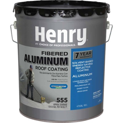 Henry 5 Gal. Fibered Aluminum Roof Coating