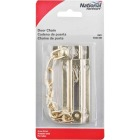 National Brass Steel Chain Door Lock Image 2