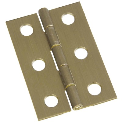 National 1-3/8 In. x 2 In. Antique Brass Hinge (2-Pack)