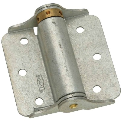 National 3 In. Galvanized Full-Surface Spring Door Hinge (2-Pack)