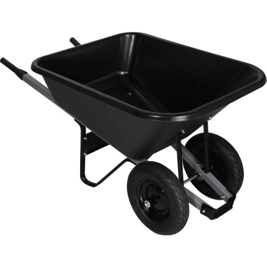 Truper 8 Cu. Ft. Poly Wheelbarrow