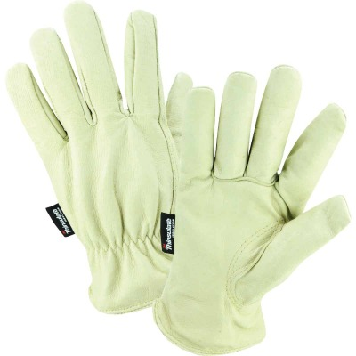 West Chester Men's Large Grain Pigkin Leather Driver Winter Work Glove