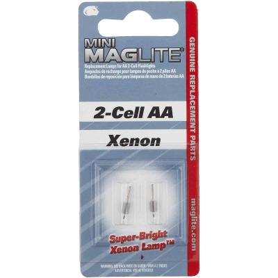 Maglite Mini Xenon 3V Replacement Flashlight Bulb (2-Pack)
